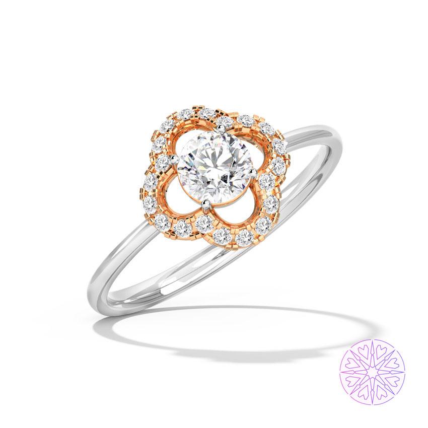 Sara Hearts & Arrows Solitaire Ring