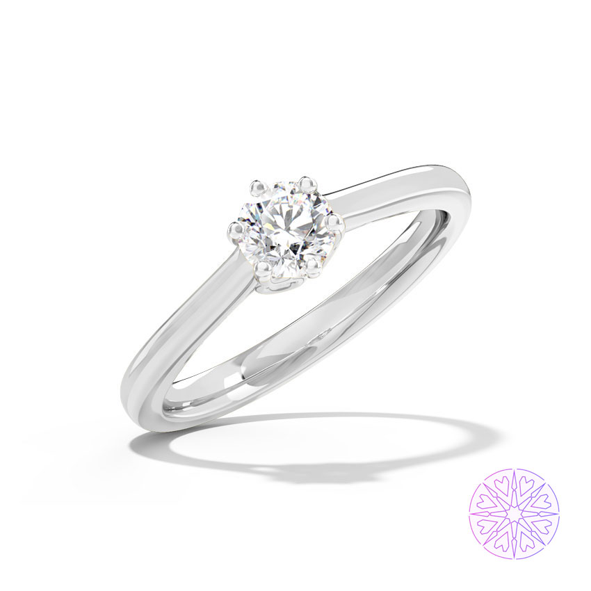 Solitaire Rings 14 Karat White Gold Samara Solitaire Ring
