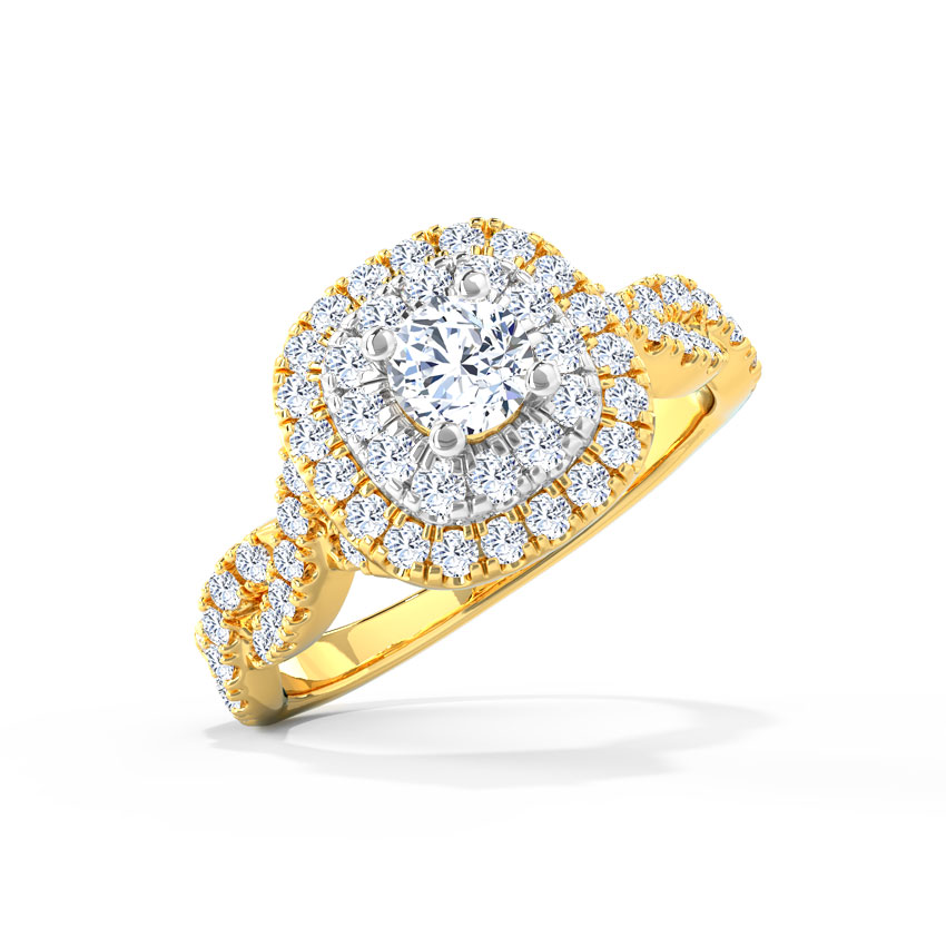 Olivia Glitter Solitaire Ring