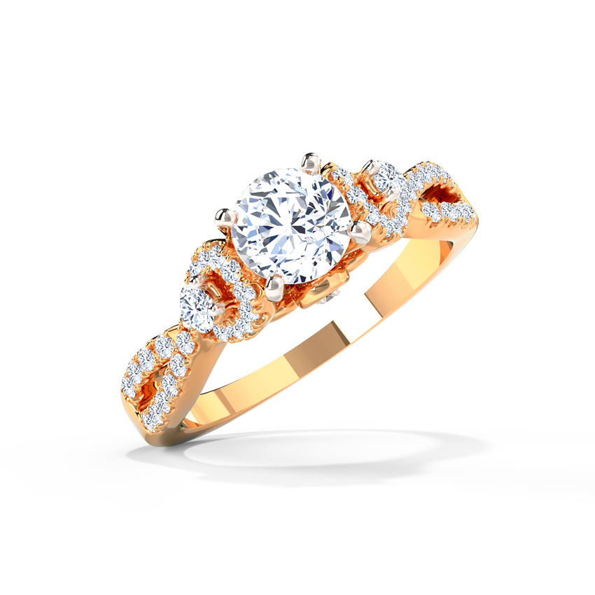 Solitaire Rings 18 Karat Rose Gold Jovena Solitaire Ring