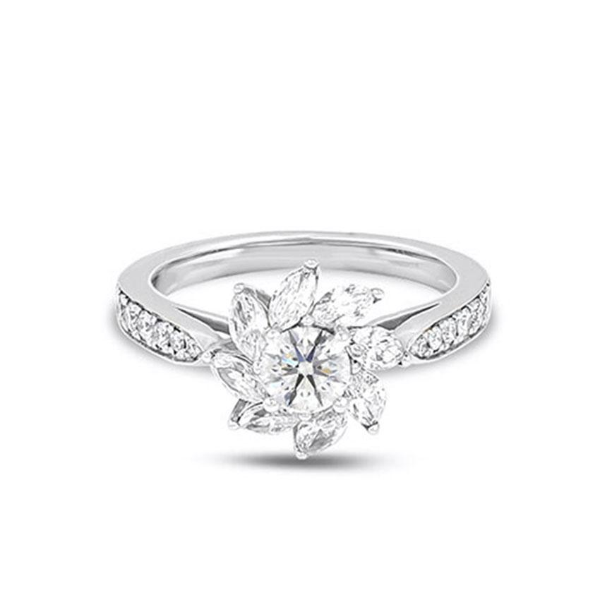 Solitaire Rings 18 Karat White Gold Brenda Solitaire Ring