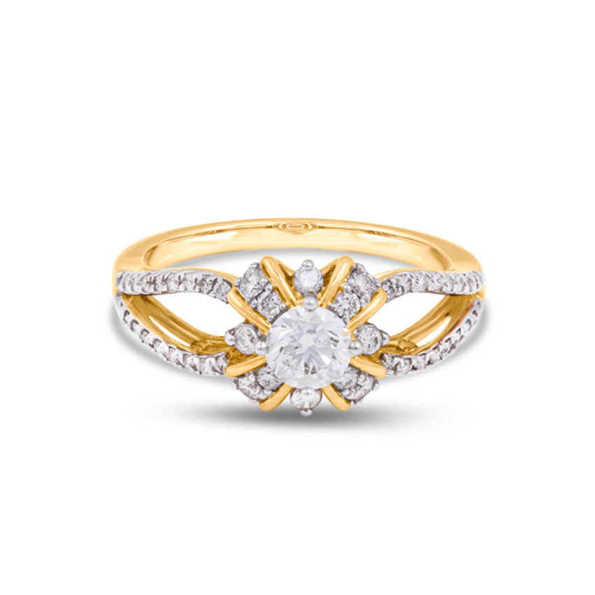 Solitaire Rings 18 Karat Yellow Gold Gloria Solitaire Ring
