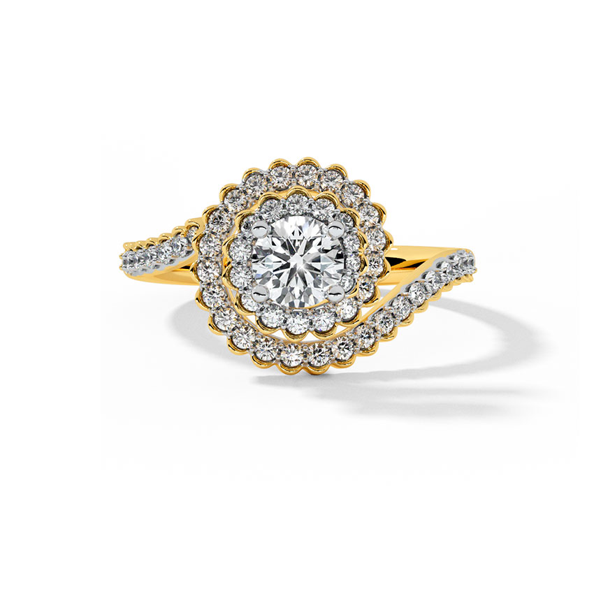 Solitaire Rings 18 Karat Yellow Gold Lucent Solitaire Ring