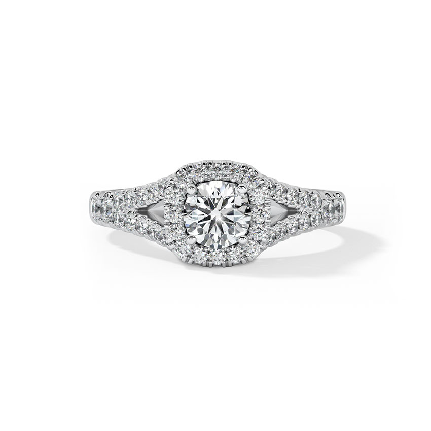Solitaire Rings 18 Karat White Gold Daze Solitaire Ring