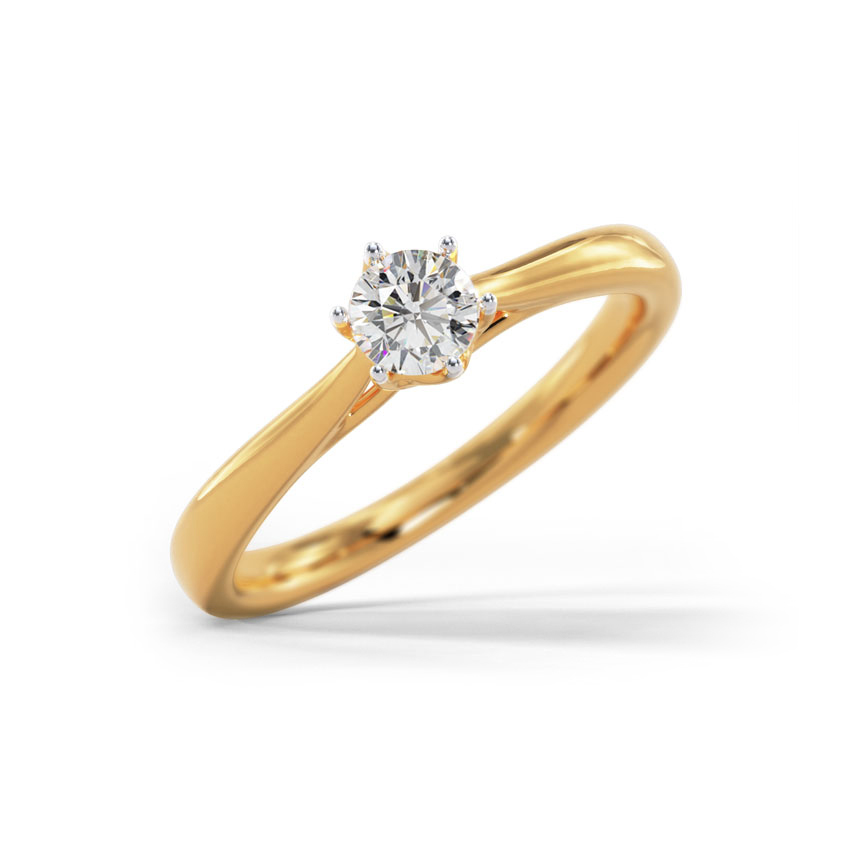 Solitaire Rings 18 Karat Yellow Gold Berina Solitaire Ring
