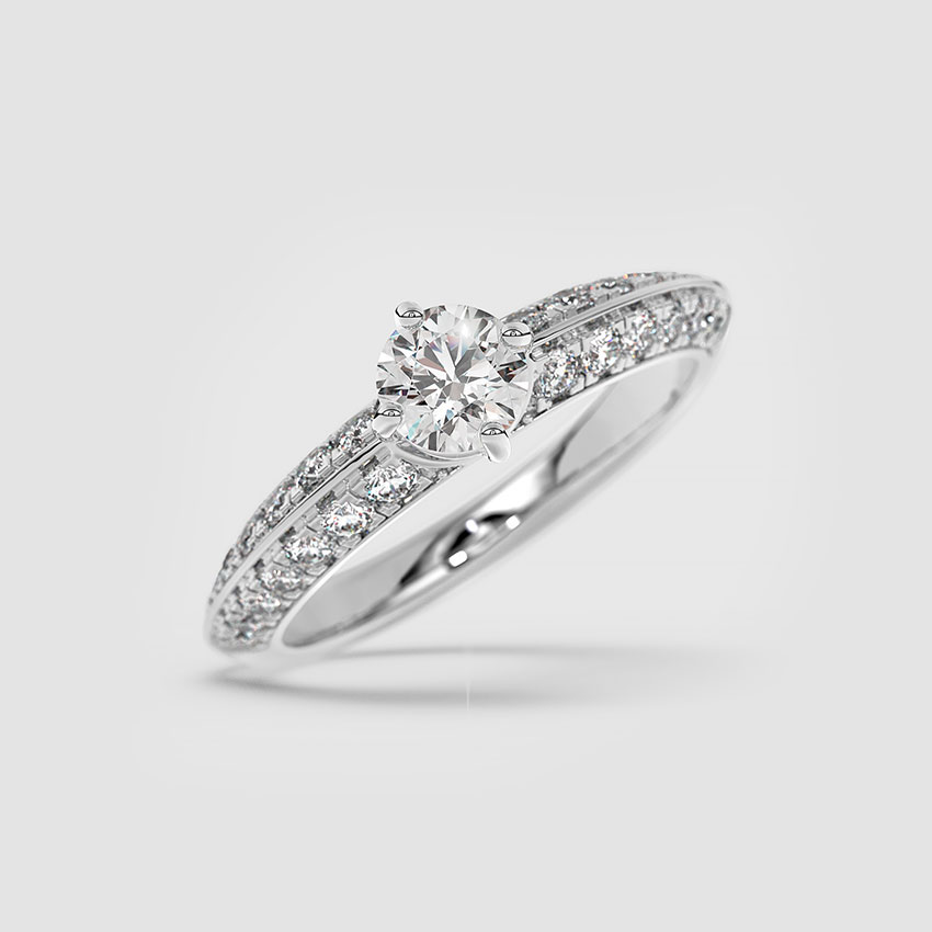Solitaire Rings 18 Karat White Gold Viena Solitaire Ring