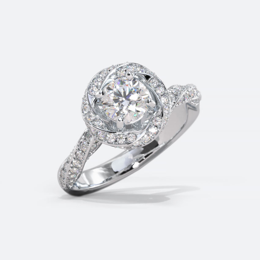 Solitaire Rings 18 Karat White Gold Olivia Solitaire Ring