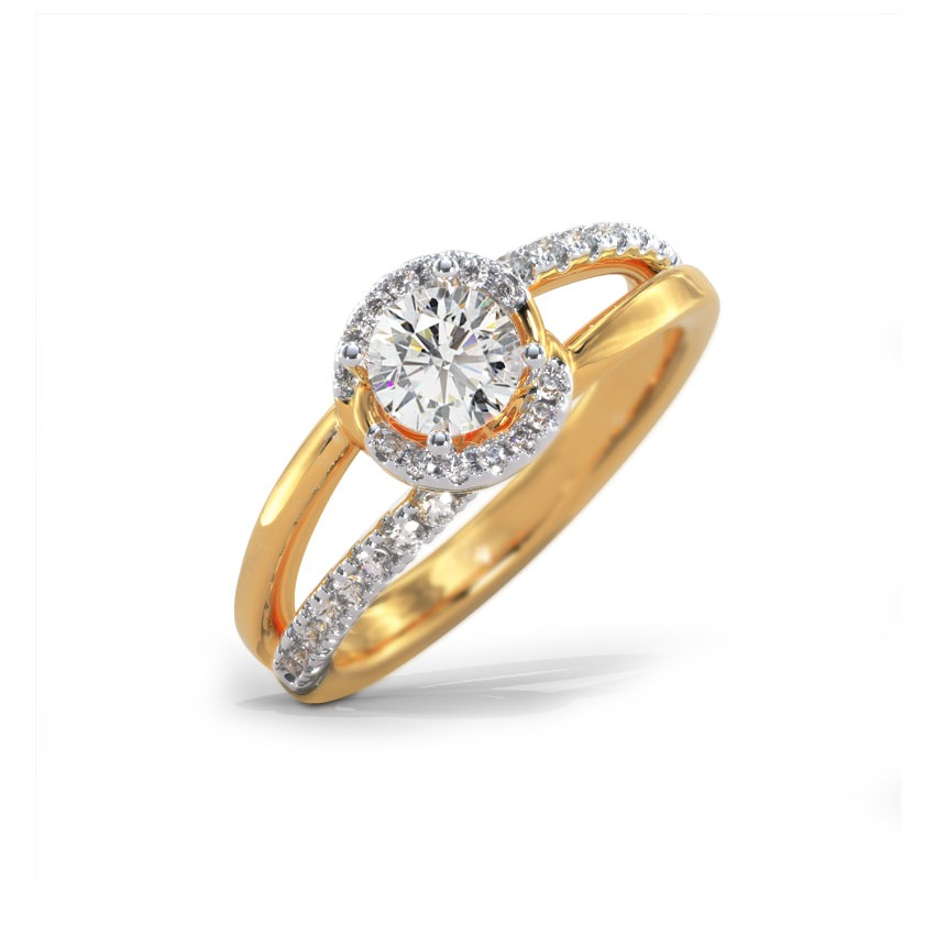 Solitaire Rings 18 Karat Yellow Gold Amani Solitaire Ring