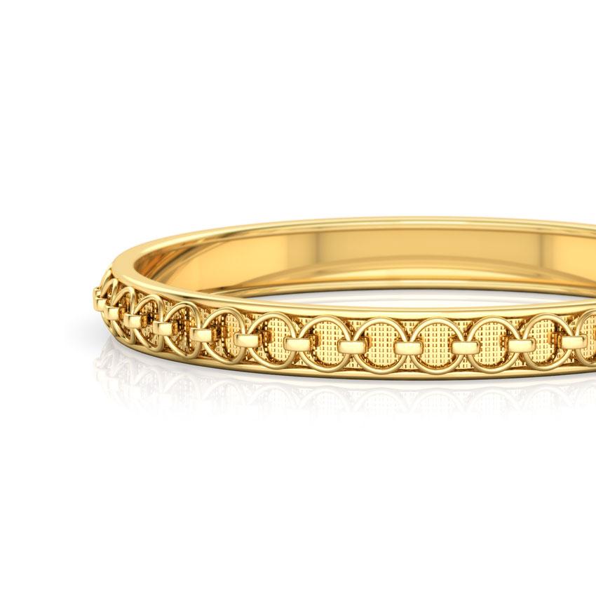 Linked Loop Gold Bangle