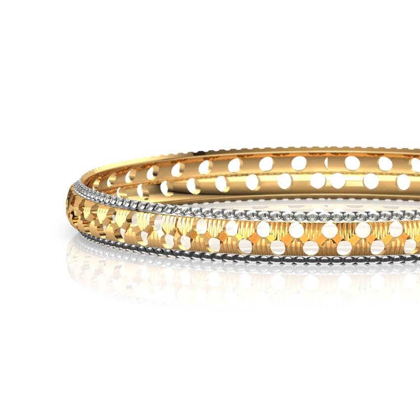 Cutout Gold Bangle