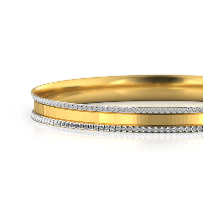 Gritty Texture Gold Bangle