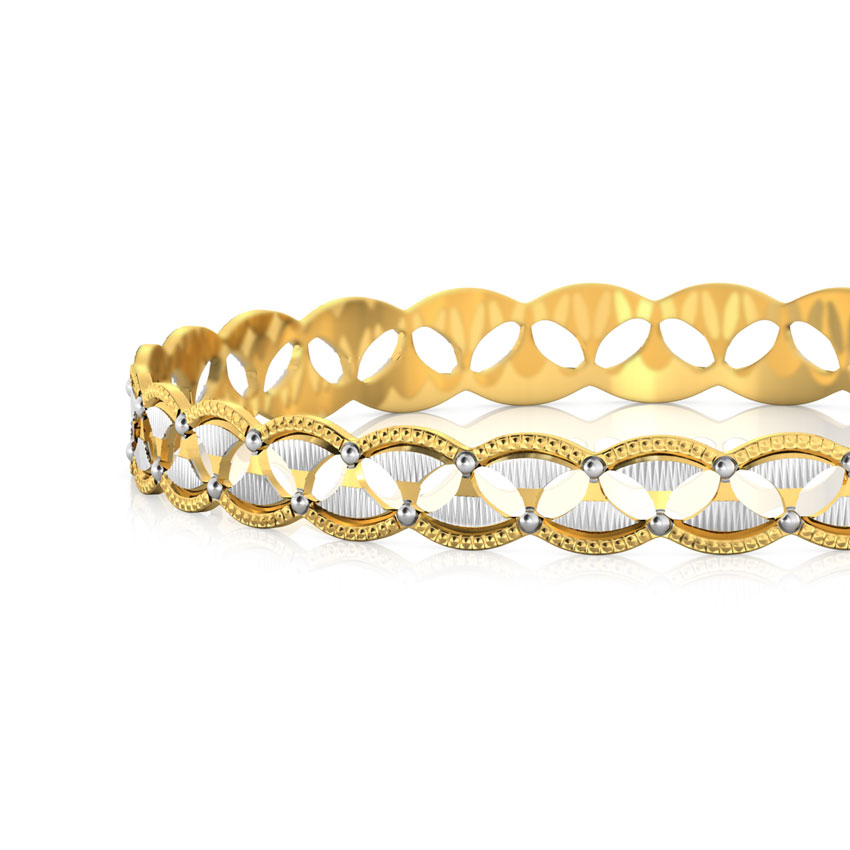 Marquise Cutout Gold Bangle