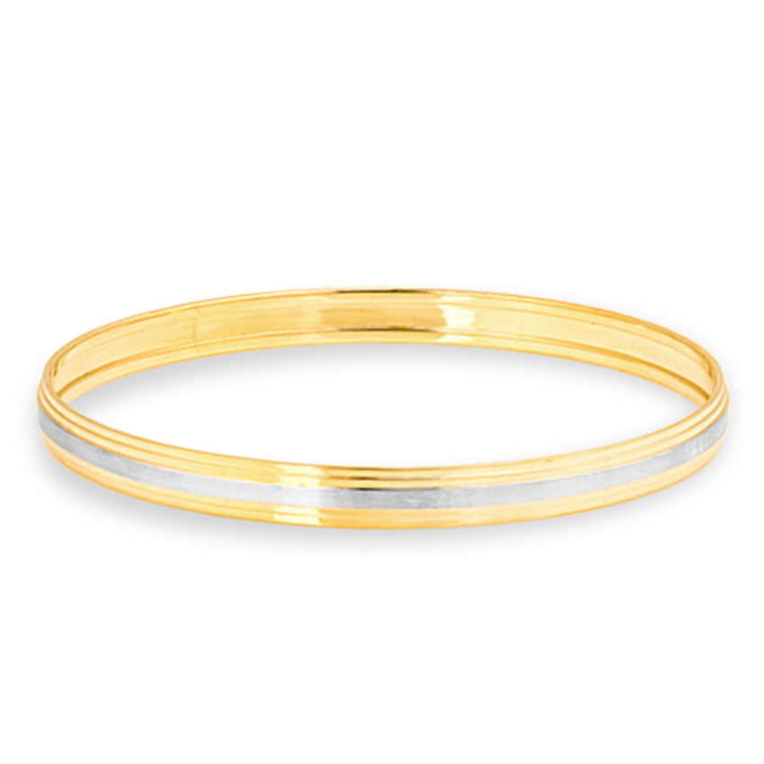 Gold Bangles 14 Karat Yellow Gold Gulzar Gold Kada for Men