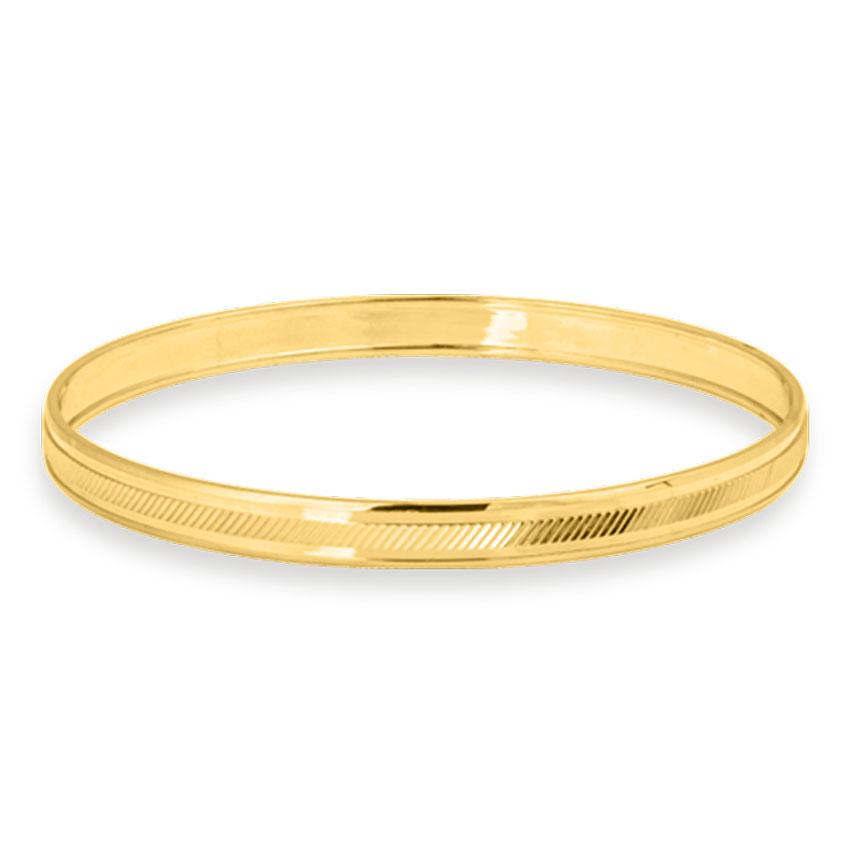 Gold Bangles 14 Karat Yellow Gold Nayan Gold Kada for Men