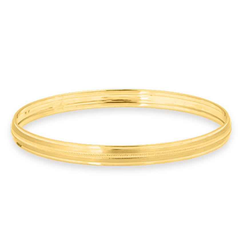 Gold Bangles 14 Karat Yellow Gold Yuvan Gold Kada for Men