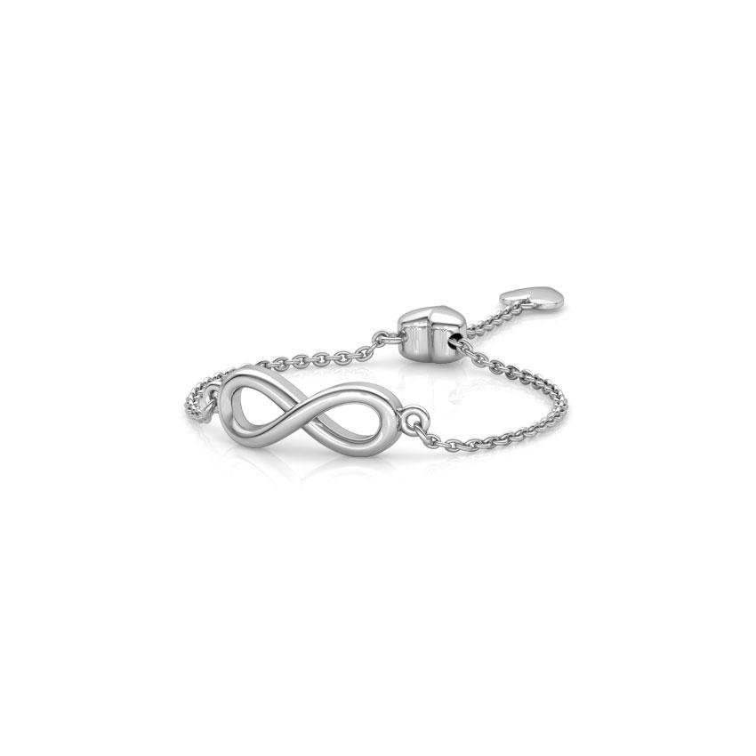 Infinity Heart Flexi Ring