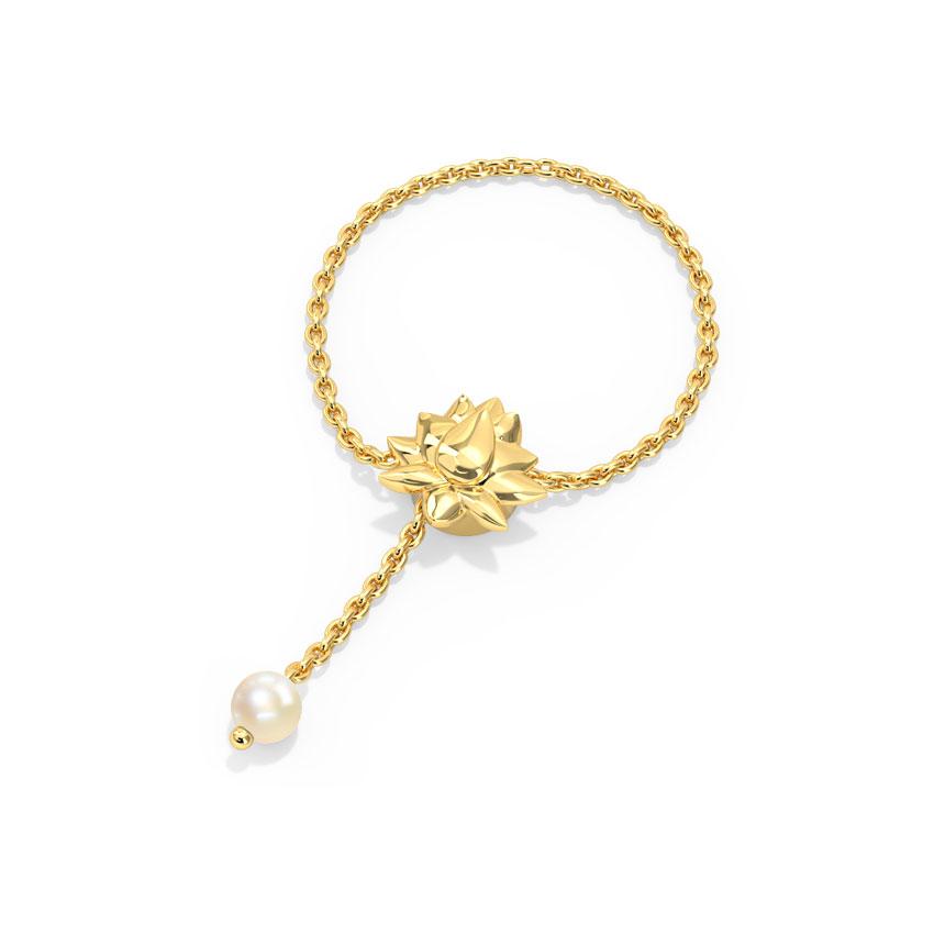 Gold,Gemstone Adjustable Rings 14 Karat Yellow Gold Blooming Gemstone Flexi Ring