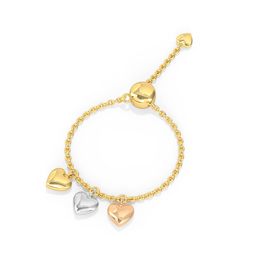 Dangling Hearts Flexi Ring