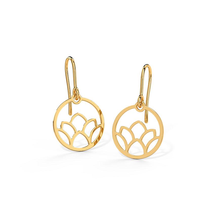 Gold Earrings 18 Karat Yellow Gold Clairette Gold Drop Earrings