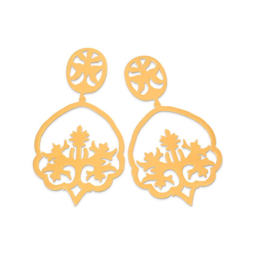 Shorea Tree Cutout Drop Earrings