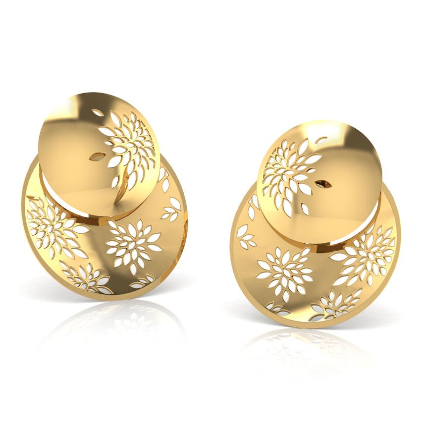 Tress Double Button Ear Jacket Jewellery India Online - CaratLane.com