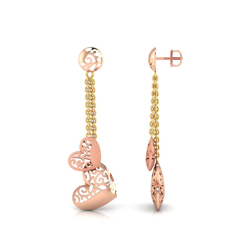 Maya Couple Heart Drop Earrings