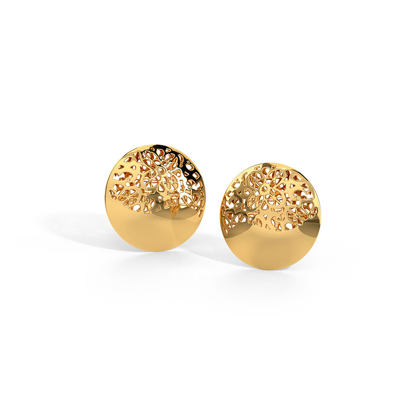 Aggie Cutout Stud Earrings