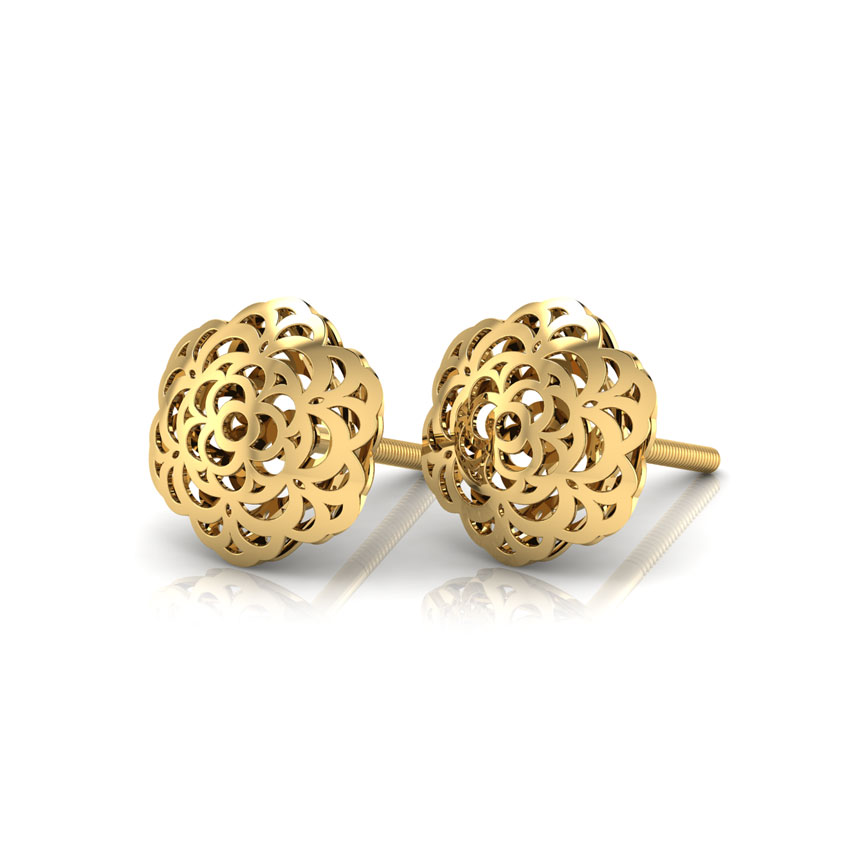 Lottie Cutout Stud Earrings Jewellery India Online - CaratLane.com