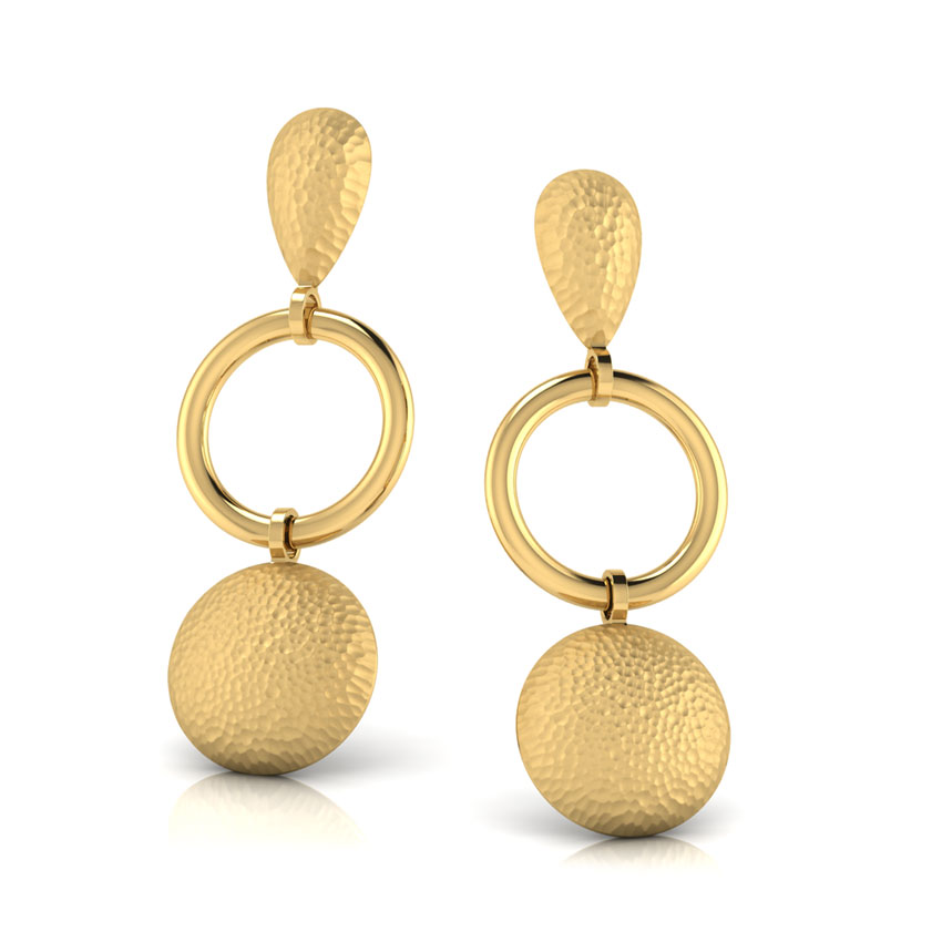 Connie Hammered Drop Earrings