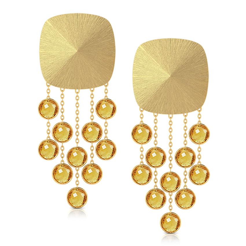 Gamila Stamped Drop Earrings