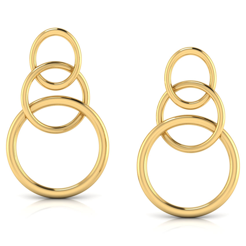 Interlinked 'O' Drop Earrings