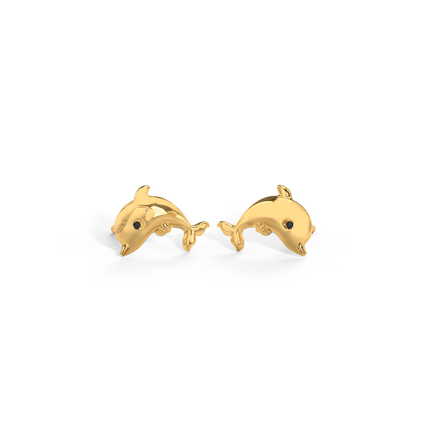 Jumping Dolphin Kids' Earrings