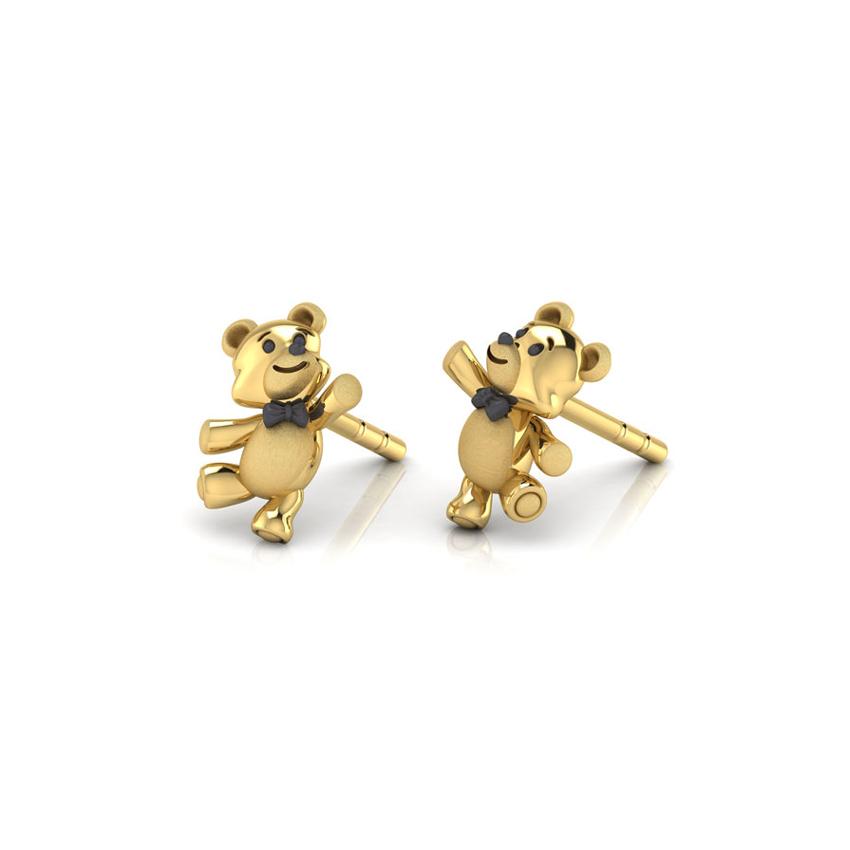 Dancing Teddy Stud Earrings