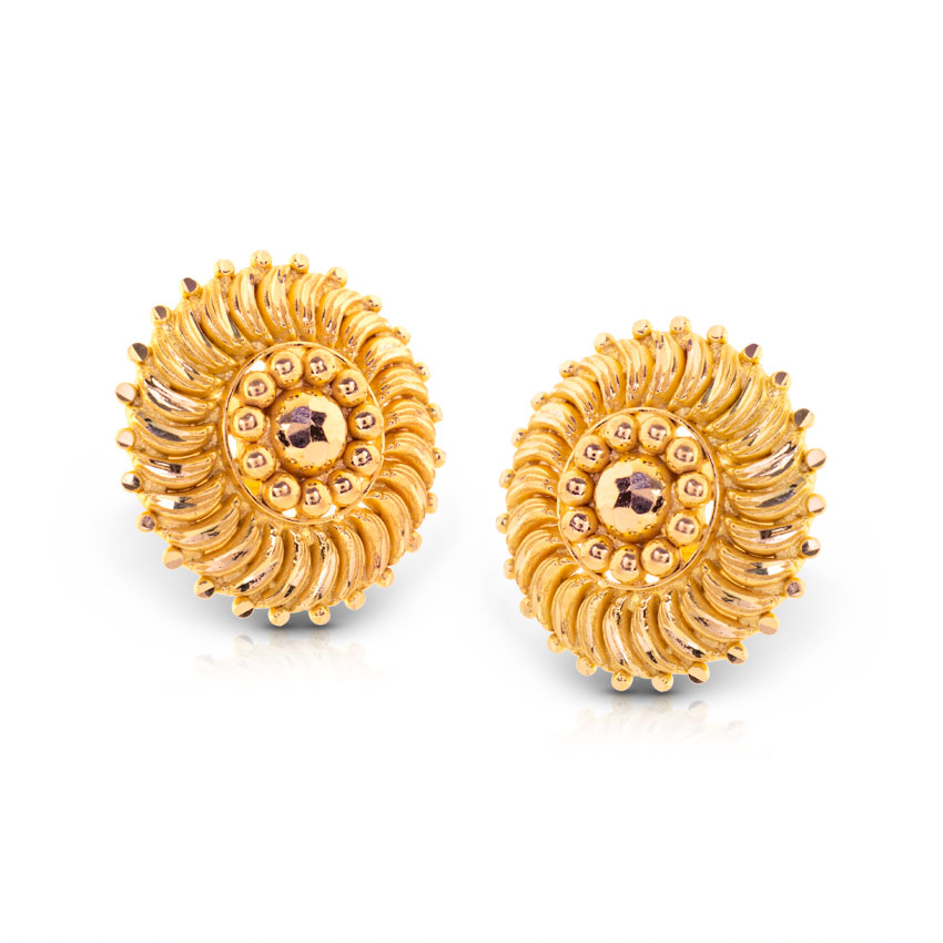 Best Of Gold Earring tops Design Image | Jewellry\'s Website