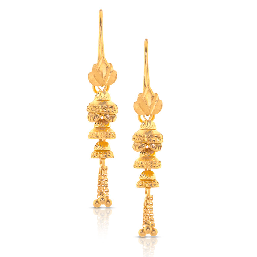 Alpita Beaded Gold Drop Earrings