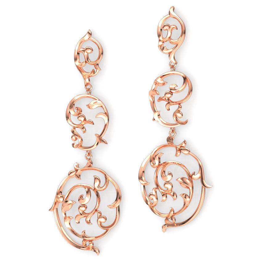 Swirl Filigree Drop Earrings