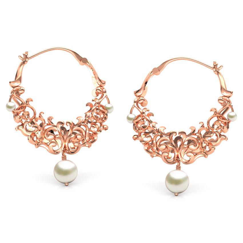 Graceful Filigree Hoop Earrings
