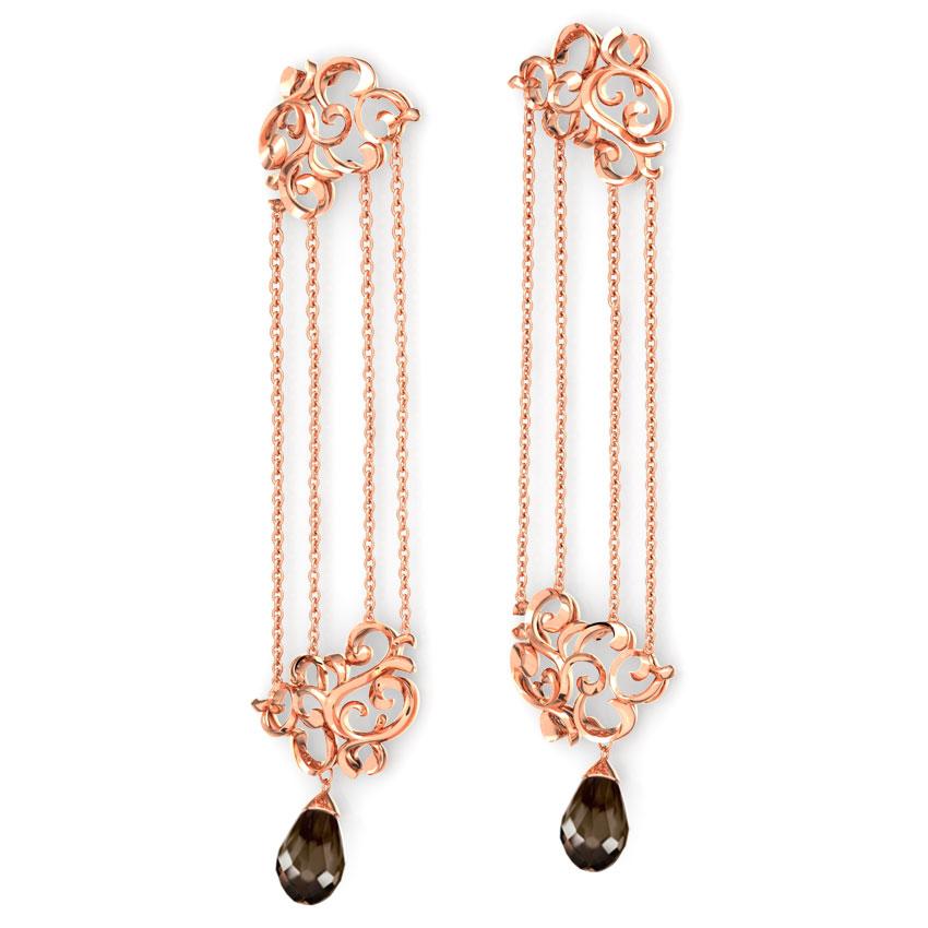Exquisite Filigree Chandelier Earrings