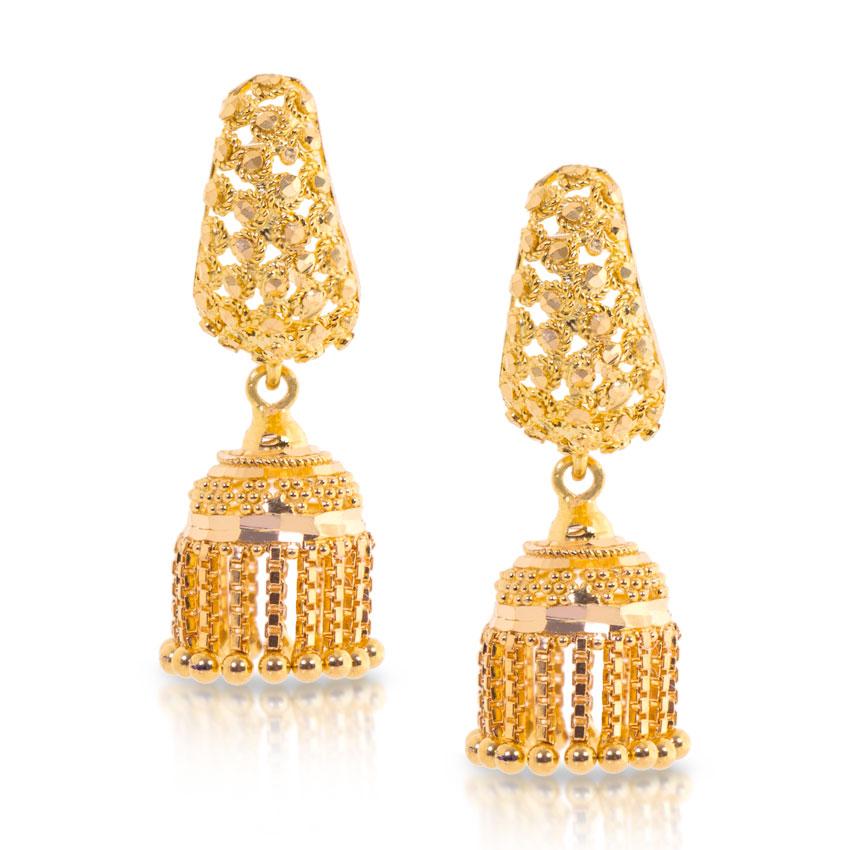 gold earring designs jhumka wwwpixsharkcom images