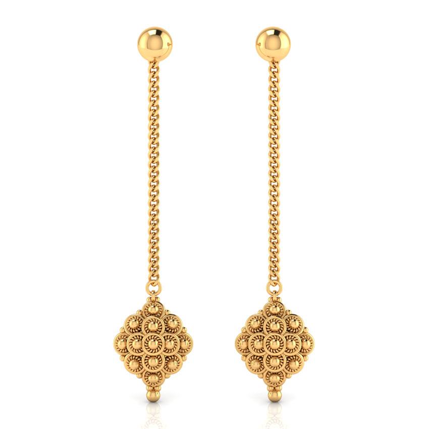Swirls Gold Drop Earrings
