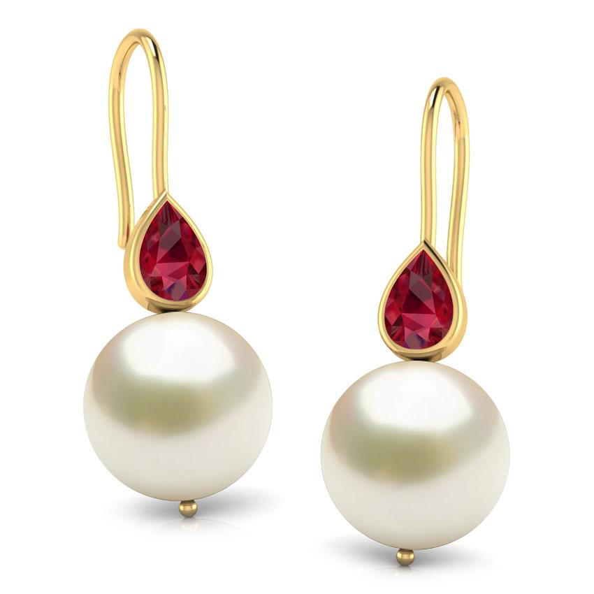 Pearl Pear Drop Earrings