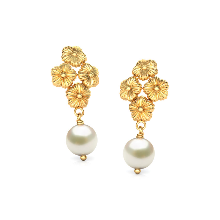 Beautiful Gold Earrings Under 15000 | Jewellry\'s Website