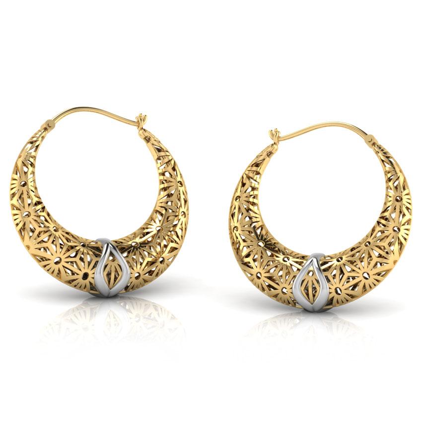 Eva Lattice Chand Bali Jewellery India Online Caratlane Com