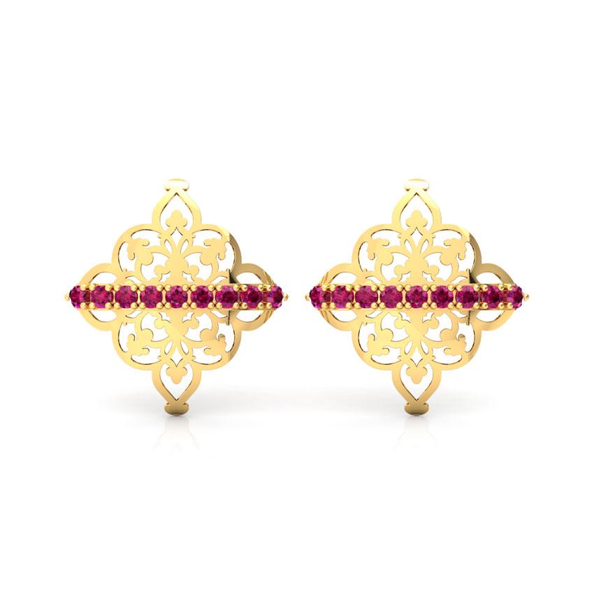 Sheesh Ornate Stud Earrings