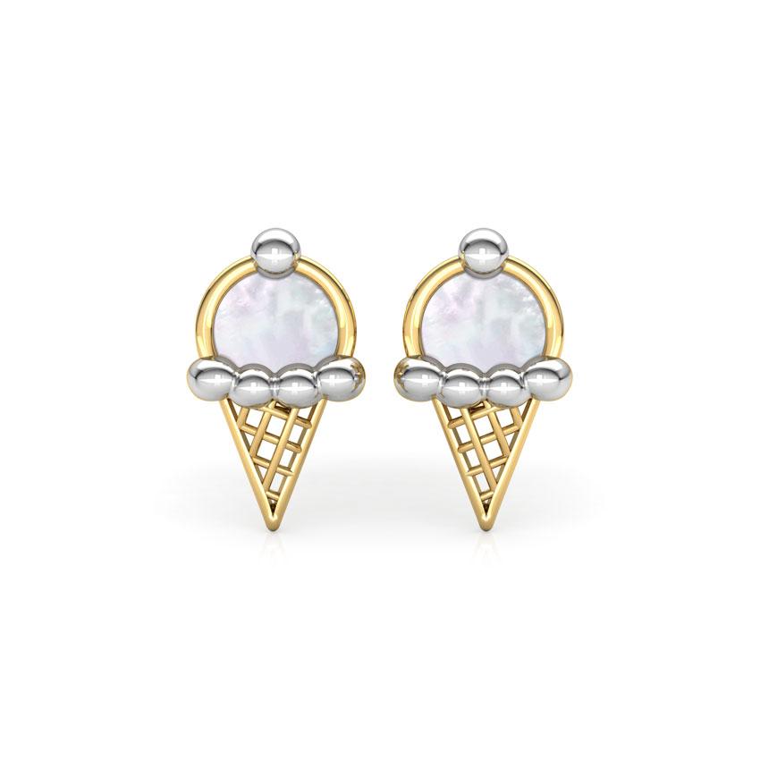Ice Cream Mother of Pearl Stud Earrings