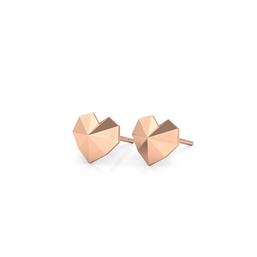 Edgy Love Stud Earrings
