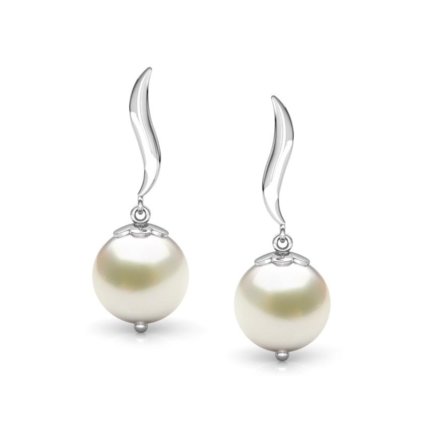 Snow Drop Pearl Earrings