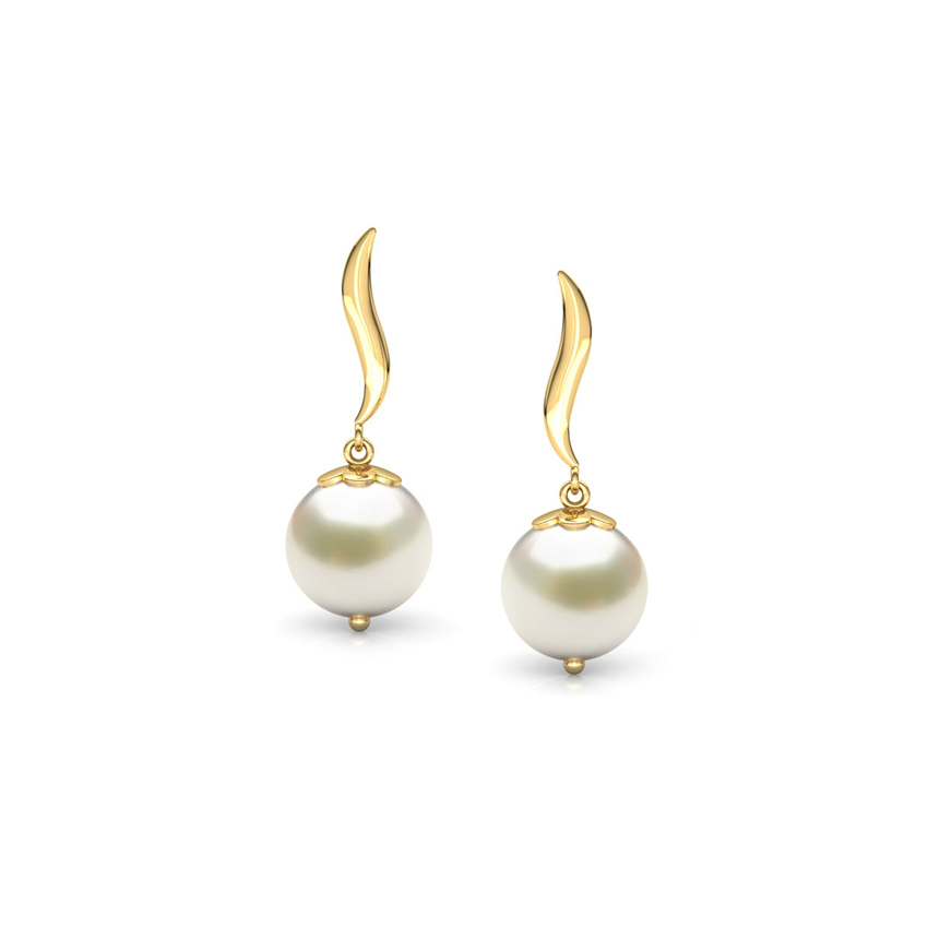 Snow Drop Pearl Earrings