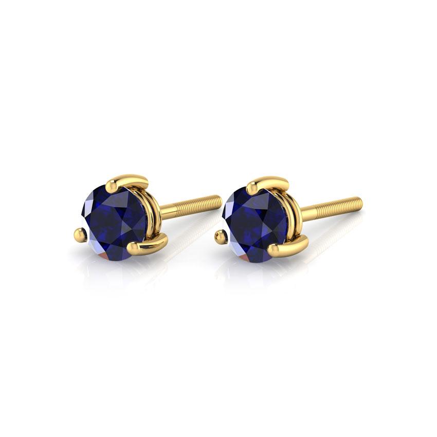 Simple Sapphire Stud Earrings
