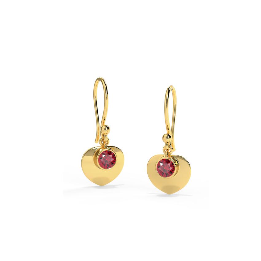 Sweetheart Garnet Drop Earrings